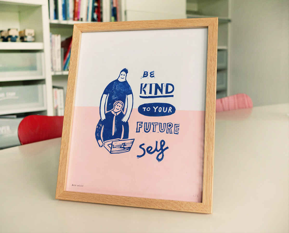 be kind to your future self illustration