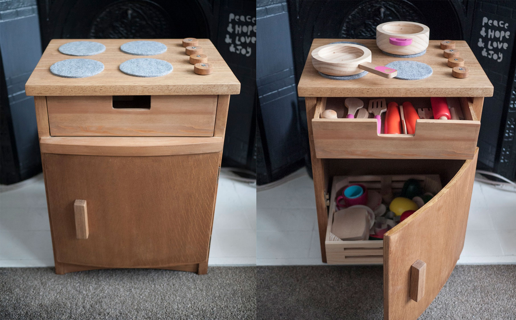 Hey, look I made a toy kitchen!