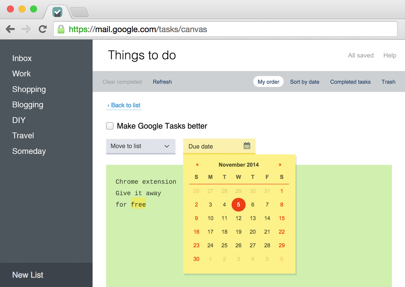 Better Google Tasks