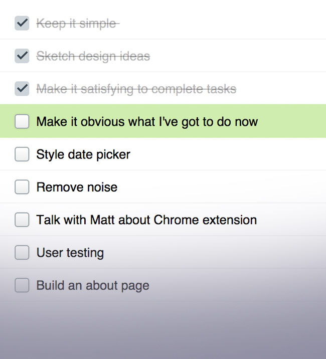 The standard google tasks view